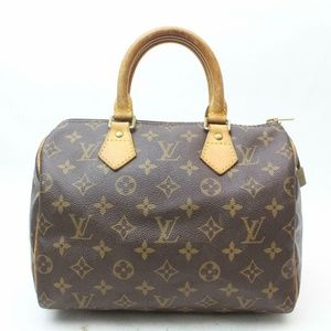 Auth Louis Vuitton Speedy 25 Bag Satchel #1086L16
